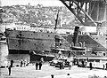 HMAS SYDNEY moored at East Circular Quay (8694635520).jpg