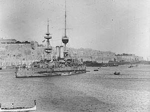 HMS Jupiter at Malta March 1915 IWM SP 77.jpg
