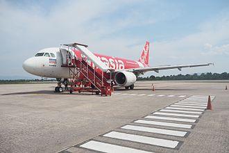 Hat Yai International Airport - Thai AirAsia Airbus A320 at the Airport