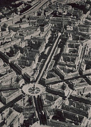 Eliel Saarinen - Saarinen designed entire city districts of Helsinki, but they were never built due to cost.  This picture shows his plan for the Haaga district.