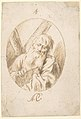 Half-lenth Figure of St. Andrew in an Oval. MET DP800117.jpg