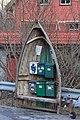 Half boat with mailboxes, Olsvika, Godvik, Bergen, Hordaland, Norway - panoramio.jpg