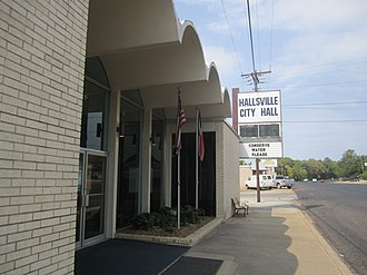 Hallsville, Texas - Hallsville City Hall is located on the main thoroughfare of the community, U.S. Highway 80.