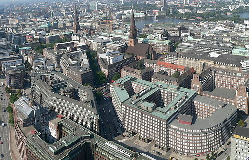 Hamburg.Skylift.Kontorhausviertel (UNESCO-Weltkulturerbe in Hamburg)