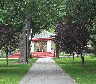 Hamilton Park, Jersey City - View to the gazebo