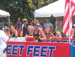 beim Chicago-Triathlon (2005)