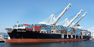 Hanjin Shipping - Image: Hanjin container ship