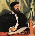 Hans Holbein d. J. - Unknown Gentleman with Music Books and Lute - WGA11549.jpg