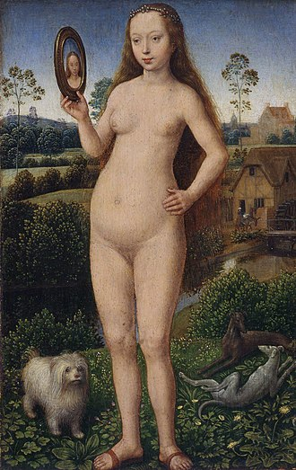 "Musée des Beaux-Arts de Strasbourg - ""Vanity"", by Hans Memling (detail from a polyptych)"
