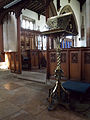 Harlaxton Ss Mary and Peter - interior Nave lectern.jpg