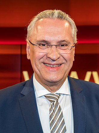 Joachim Herrmann (CSU) - Image: Hart aber fair 2018 04 09 8848