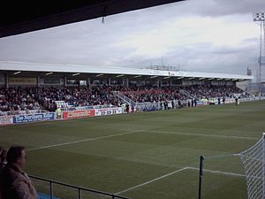 Victoria Park (Hartlepool) - Cyril Knowles Stand.