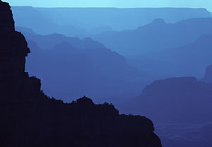 Hazy blue hour in Grand Canyon.JPG