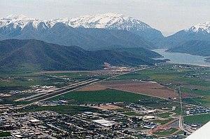 Heber City, Utah - Heber Valley with Deer Creek Reservoir