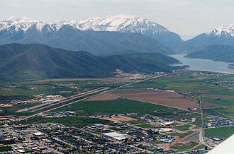 Heber City, Utah - Heber Valley with Deer Creek Reservoir