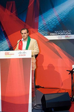 Science and technology in Portugal - Helder Antunes inaugurating Cisco Portugal in Oeiras, 2008.