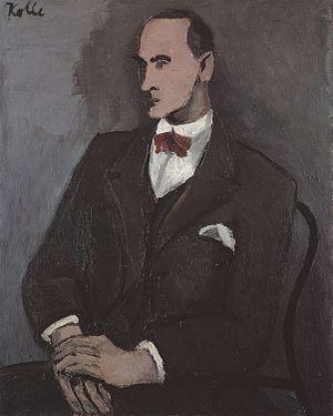 Wilhelm Uhde - Helmut Kolle, ca.1930, Portrait of Wilhelm Uhde