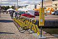 Helsinki city bikes station 2016 kauppatori.jpg