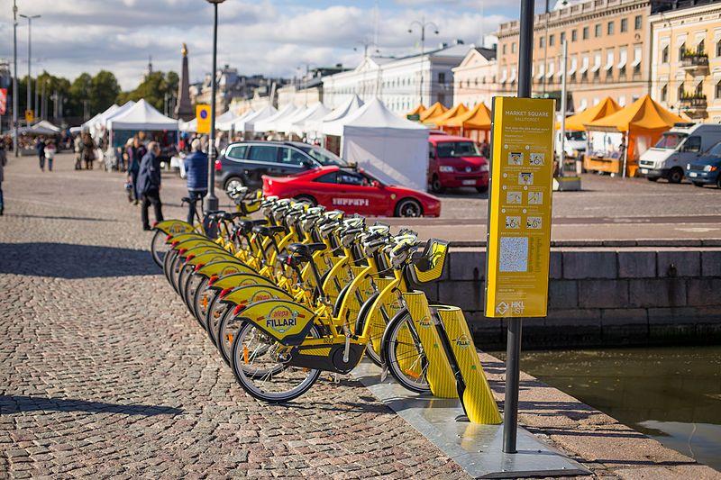 Bicicleta em Helsinque