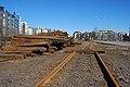Helsinki harbour rail dismantling in 2009.jpg