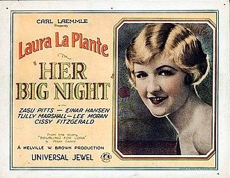 Her Big Night - Lobby card