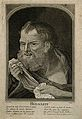 Heraclitus. Line engraving by Dupin after Picart. Wellcome V0002699.jpg