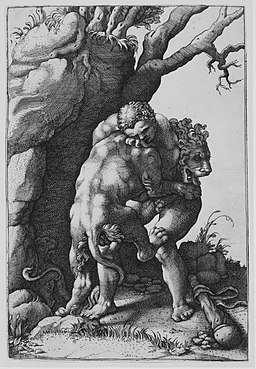 Hercules and the Nemean Lion MET MM26720