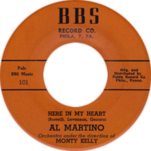 Here in My Heart by Al Martino Side-A US vinyl.png