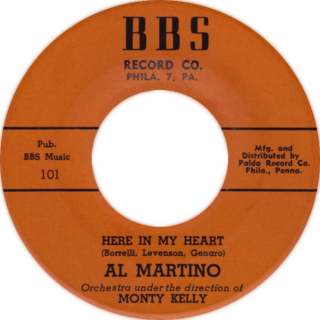 Here in My Heart original song written and composed by Bill Borrelli, Pat Genaro, Lou Levinson