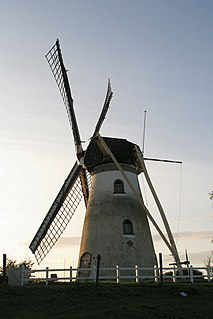Herkingen Village in South Holland, Netherlands