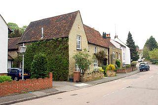 Hertingfordbury village in Hertfordshire, England