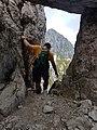 Hiker on path 501 from Monte Alben to Monte della Croce - Bergamo, Lombardy, Italy - 2020-09-13.jpg