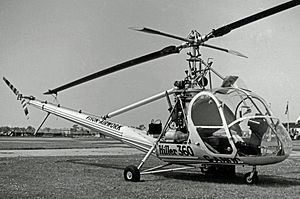 Fisons - Hiller UH-12 helicopter used in 1955 by Fison-Airwork to demonstrate the use of aerial crop spraying