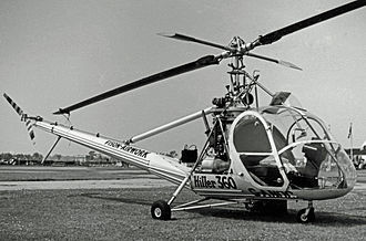 Hiller OH-23 Raven - Hiller UH-12A in 1955 when used as a crop spraying demonstrator in England