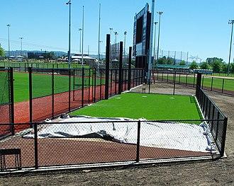Ron Tonkin Field - Image: Hillsboro Ballpark June 2013 bullpen Oregon