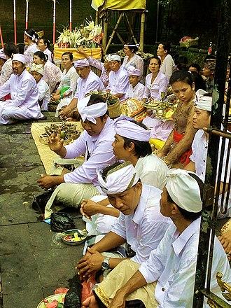 Hinduism in Indonesia - Balinese Hindu ritual