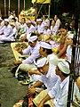 Hindu ritual in Pura Tirta Empul, Bali.JPG