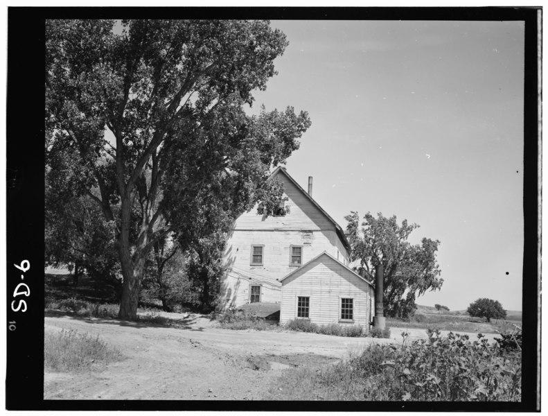 File:Historic American Buildings Survey, John A. Bryan, Photographer July, 1952 WEST ELEVATION. - Bon Homme Mill, Gavins Point Reservoir Vicinity, Tabor, Bon Homme County, SD HABS SD,5-TABOR,1-3.tif