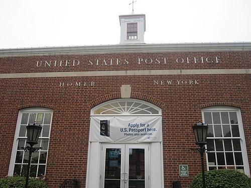 U.S. Post Office, Homer, New York, July 2009