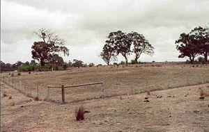 Sunbury earth rings - Image: Hopbush Ave Earth Ring