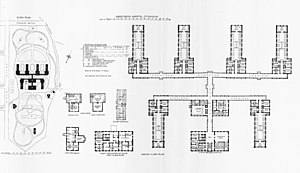 Sabbatsberg Hospital - Floor plan in 1893