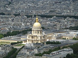 Hotel des Invalides seen from the Tour Montparnasse.JPG