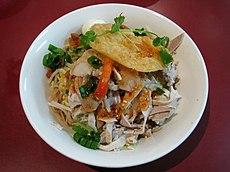 Hu tieu kho, dry rice noodle dish