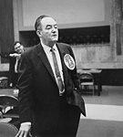 Hubert H. Humphrey wearing an ILGWU Local 23 button (5279064722).jpg