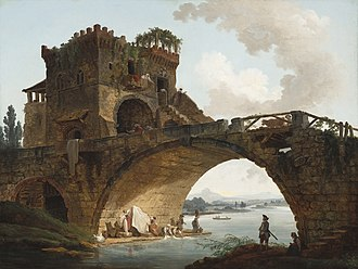 Hubert Robert - The Ponte Salario, c. 1775, National Gallery of Art
