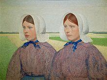 Huizer Meisjes Dragen De Isabee, Collectie Zuiderzeemuseum (Ferdinand Hart  Nibbrig)