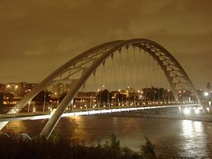 Waterfront Trail - The Humber Bay Arch Bridge carries the waterfront trail over the Humber River in Toronto