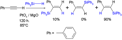 Hydrosilylation with Triphenylsilyl hydride