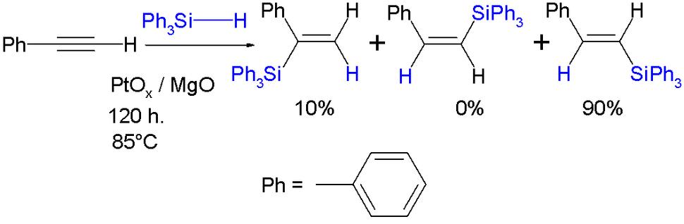 HydrosilylationTriphenylsilylhydride