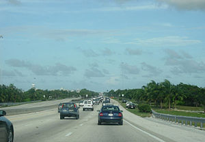 Interstate 195 (Florida) - I-195 eastbound towards Miami Beach